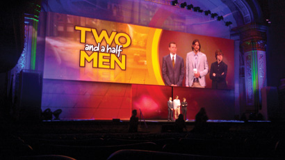 CBS Upfront for Two and a Half Men, photo by Matt Ellar