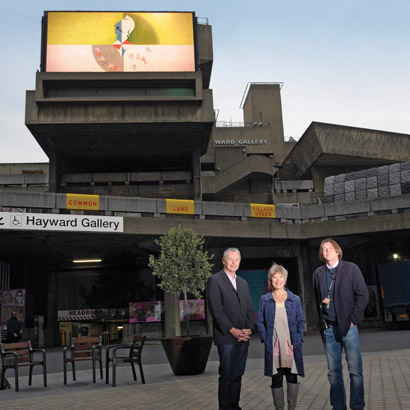 From left, Mike Walker with Martin Professional and Jude Kelly and Eddy Smith from Southbank Centre.
