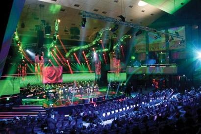 TRT Music Awards in Turkey Lit with Robert Juliat Profile