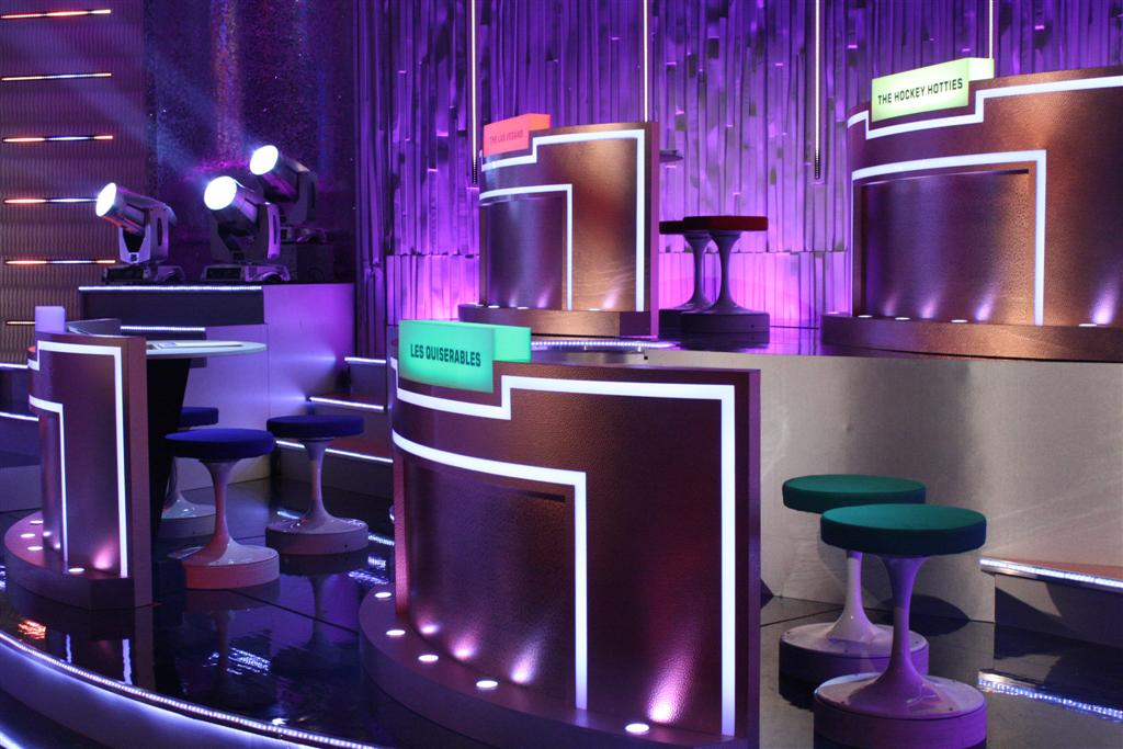 Al Murray Comedy Quiz Show Lit with Clay Paky Fixtures