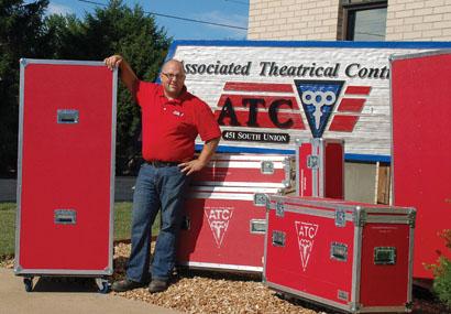 ATC artistic director Tim Midyett with Grundorf Tour 8 Series wardrobe cases