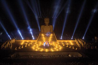 Robe Lights Aida at Masada