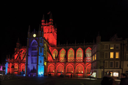 Bath Abbey, lit with Robe and Anolis fixtures