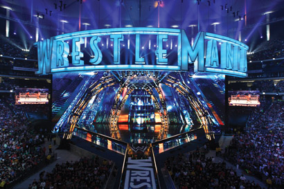 WWE WrestleMania 27 Features Digital Cyclorama, Other Martin Gear