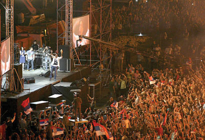 Wimbledon Victory Celebration for Novak Djokovic in Belgrade, Serbia