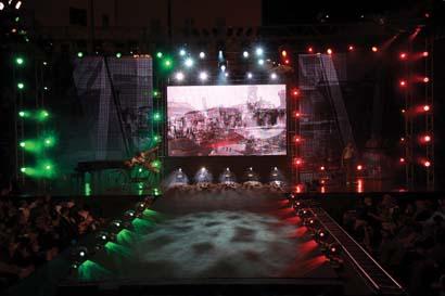 Coemar lights fashion show
