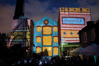 The Projection Studio lights up Diespeker Wharf
