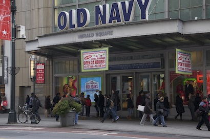 Old Navy windows