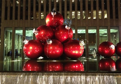 Christmas Balls in NYC