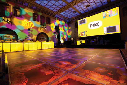Holo-Walls Liquid Fusion products at 500th episode celebration for The Simpsons