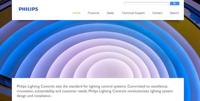 Philips Lighting Controls website