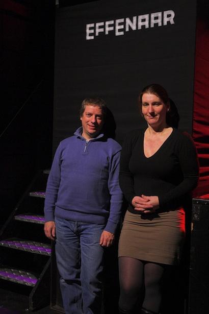 Die Effenaar technical manager Charles Konings and LD Natasha Von Haaften