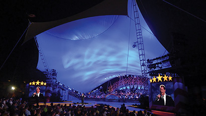 GLP fixtures used at the US National Memorial Day Concert