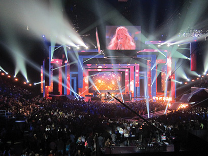 Robe fixtures at the 2012 CMT Awards