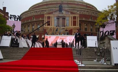 Skyfall premiere at Royal Albert Hall