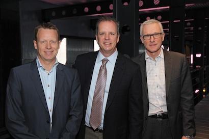 Christian Engsted (Martin), Blake Augsburger (Harman) and Jens Bjerg Sorensen (Schouw & Co.)
