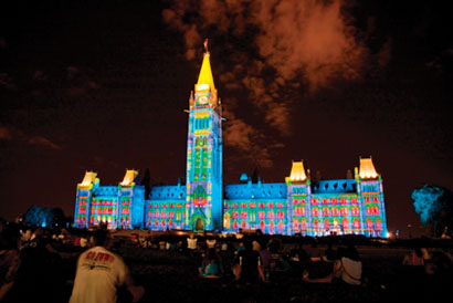 Christie 3-chip DLP projectors will be used for a sound and light show that tells the story of Canada's history by lighting up Parliament Hill