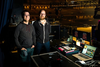 Video director Rusty Anderson (left) and music director/keyboardist Matt Gilder