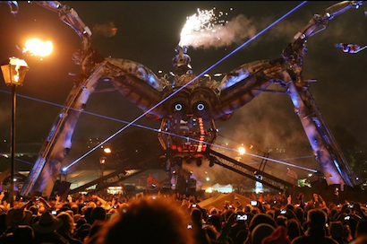 Spider Stage at Glastonbury Festival