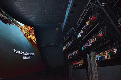 At Adlabs Imagica near Mumbai, five Christie Roadster S+22K-J projectors beam imageray onto a 90-feet wide screen.