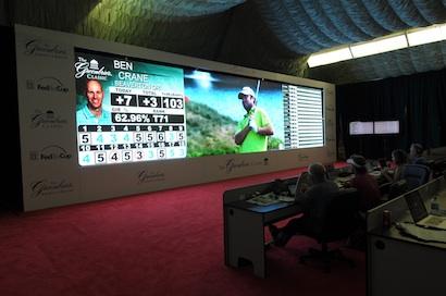 PGA Tour media center.