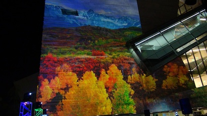 Onstage Systems projection mapped nature scenes at the Perot Museum in Dallas. Photo: Carrie Fedewa