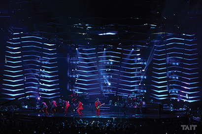 Bruno Mars' Moonshine Jungle tour, which recently completed its North American leg before heading to Europe this fall and Australia in early 2014, features automation from Tait