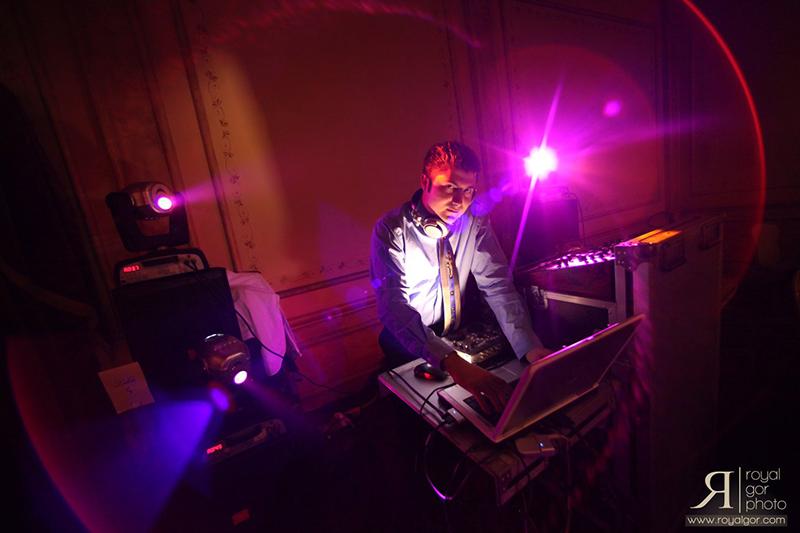 Along with lighting, Allen Analian can provide DJ services. Photo by Royal Gor