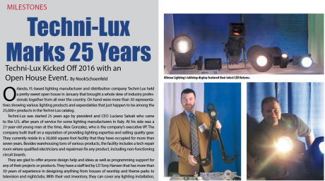 Techni-Lux Marks 25 Years with Open House Event