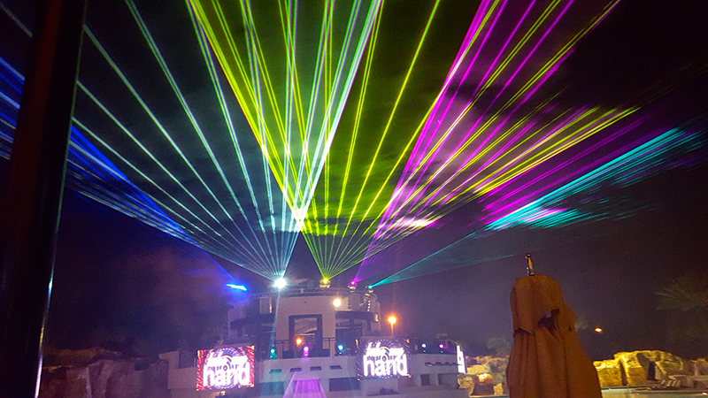 The Light Up The Night Laser Show At Marriott S Orlando
