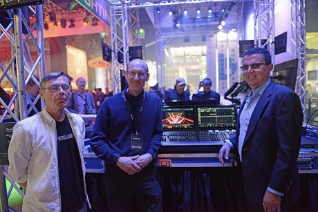 ChamSys partners George McDuff and Chris Kennedy meet up with new owner Albert Chauvet.