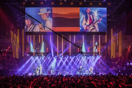 The Tragically Hip: A National Celebration during its live broadcast last August in Kingston, Ontario. Photo by Mike Homer.