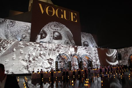 VER supplied the gear for the Vogue Arabia launch. Photo courtesy Barco