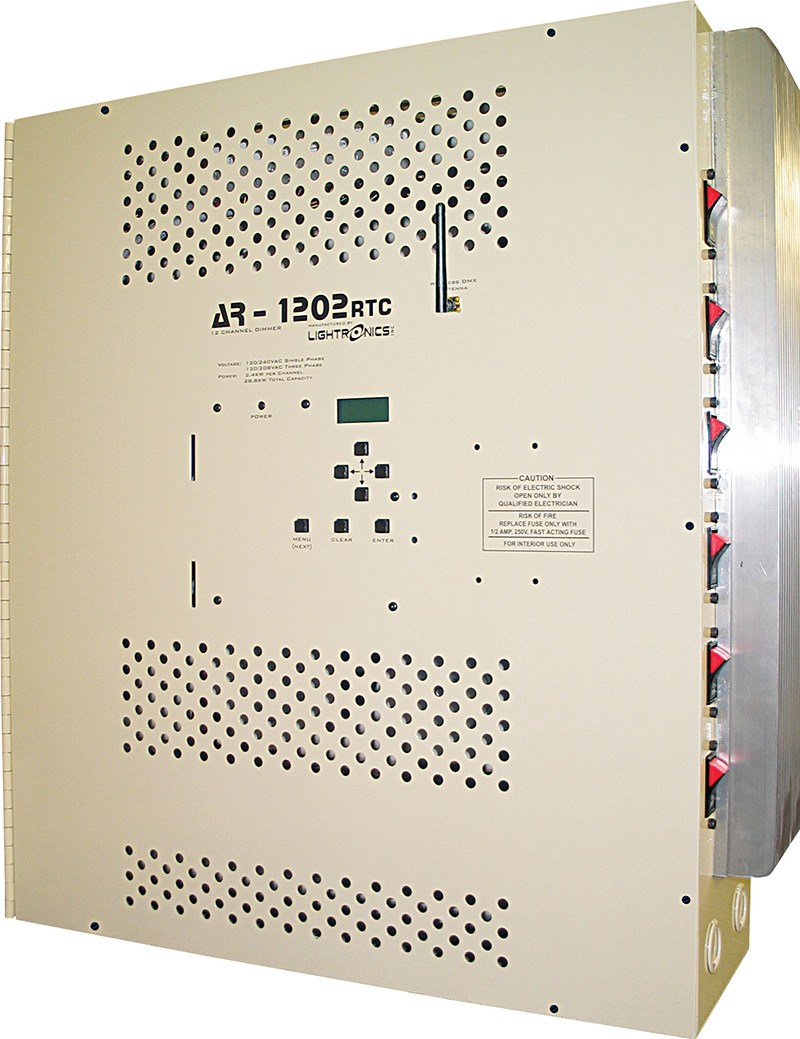 Lightronics' AR-1202RTC 12-channel x 2.4kW architectural dimmer.