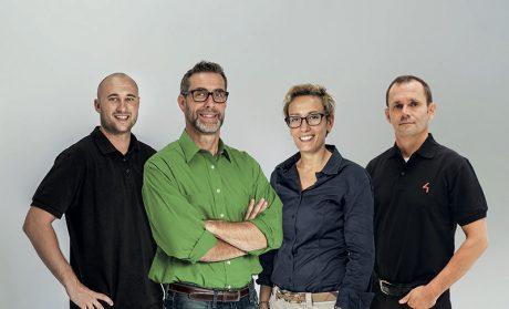 From left, Eric Lawrence, Tim Waterman, Carman Savarese and Franti Zykan