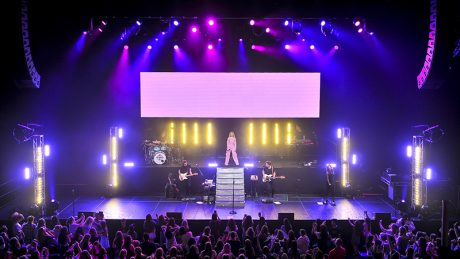 Sabrina Carpenter performed July 15 at the Masonic Auditorium in San Francisco. Photo by Steve Jennings
