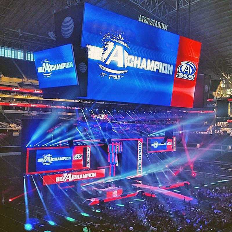 Advocare booked the stadium to be able to use the big in house LED wall.