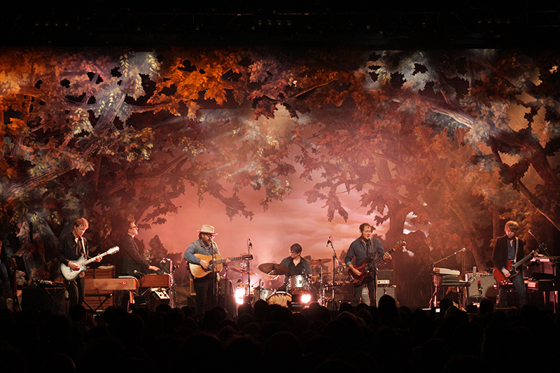 Wilco's Schmilco tour returns to the U.S. this fall with its 'forest.' Photo by Jeremy Roth
