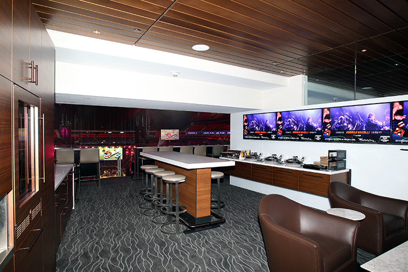 Plush private boxes with interior lights controlled by the LD from his console