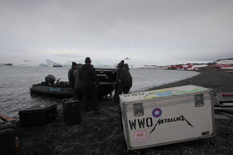 Metallica gear delivered to Antarctica