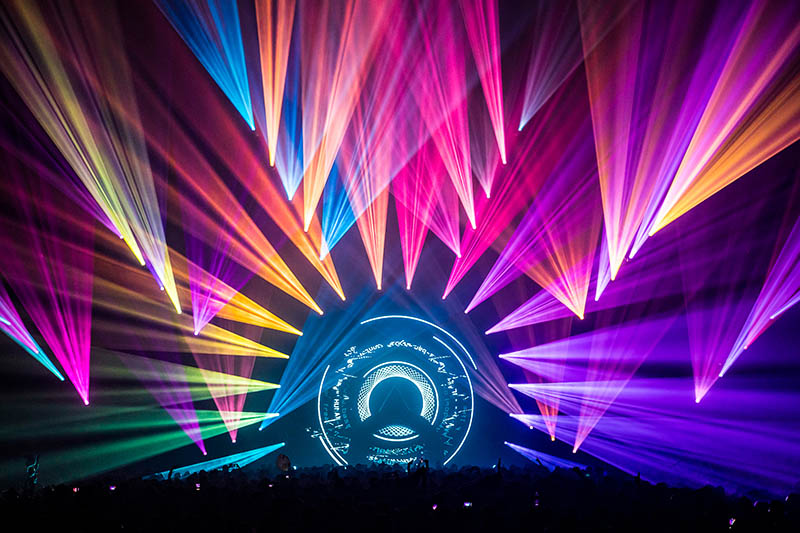 Bassnectar lit with gear supplied by Brown Note Productions. Photo by aLive Coverage