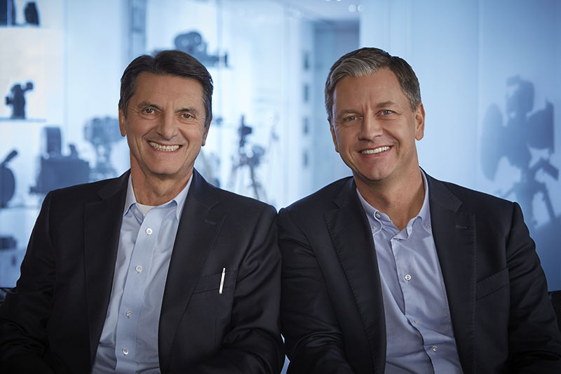 ARRI Group Managing Directors and Executive Board members Franz Kraus and Jörg Pohlman. Photo by Tom Taehrmann