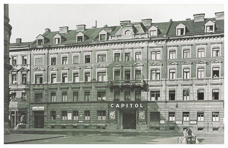 A historical photo of Tuerkenstrasse in Munich