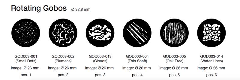 Claypaky Axcor Profile 900 rotating gobos