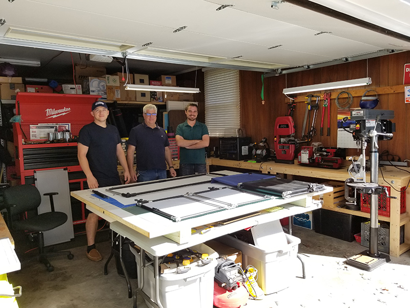The Bertuch clan can build you any shade cover you need in 48 hours from their home shop.