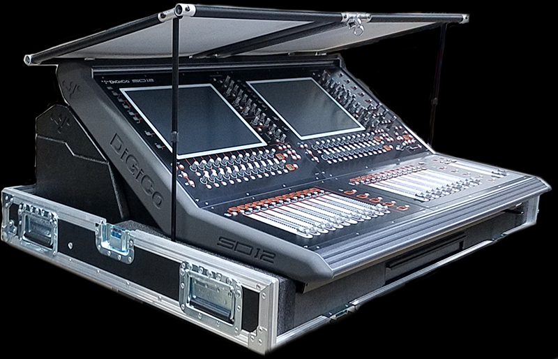 Sound guys can benefit, too - the Console Shade is pictured here on a DiGiCo audio mixer.