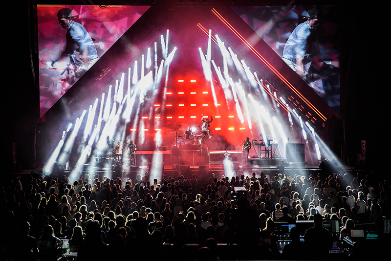 OneRepublic wowed the crowds on the 2017 Honda Civic Tour with live video manipulation using VideoDust and Blackmagic Design technologies.