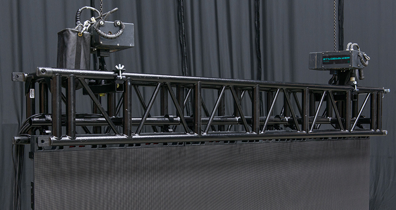 LED truss with video wall