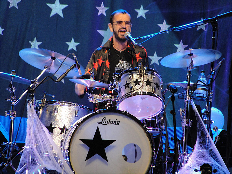 Ringo on the drums. Photo by Debi Moen