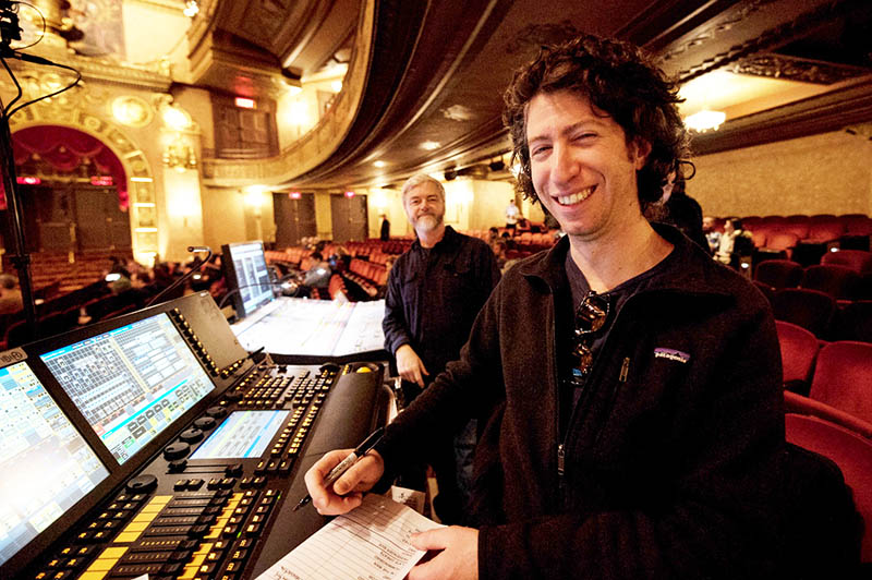 1 Jeremy Roth (right) with Stan Doty, Wilco's FOH Engineer